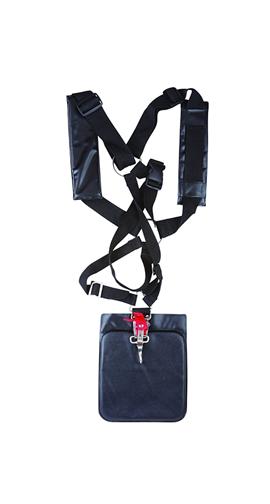 Double Belt Harness in Black