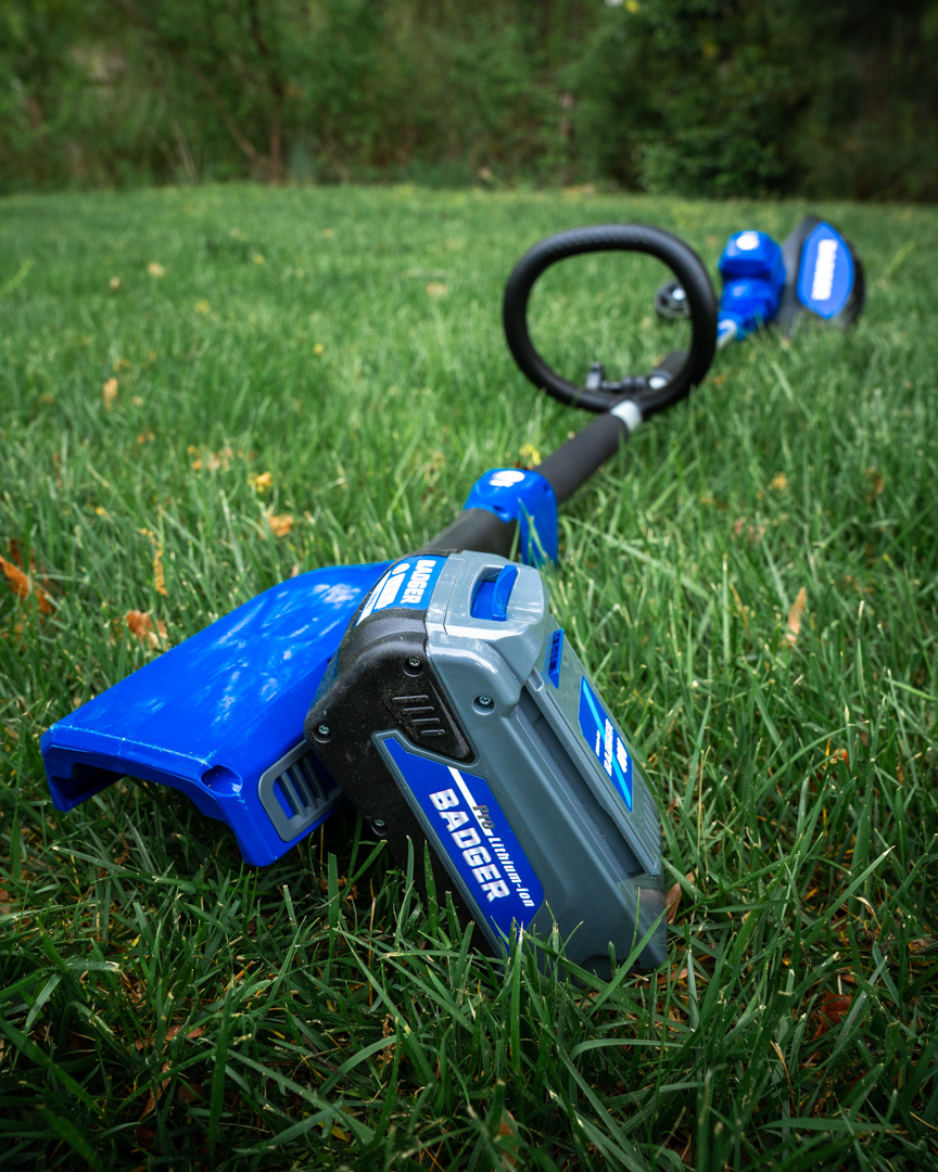 40 Volt String Trimmer/Edger from Wild Badger Power with battery