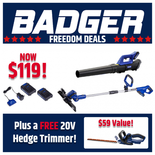 20V Kit with Free Hedge Trimmer