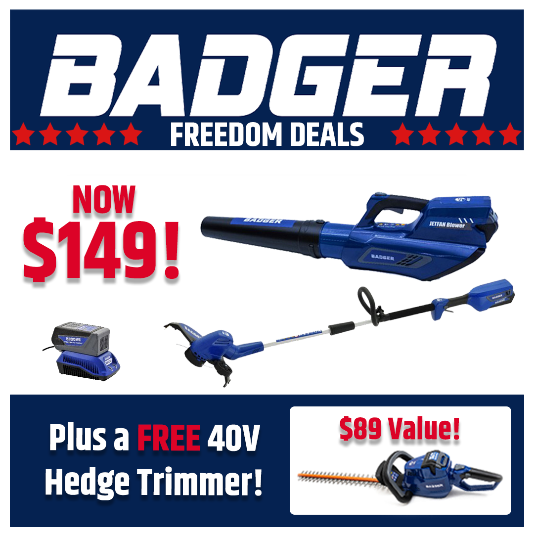 40V Kit with Free Hedge Trimmer