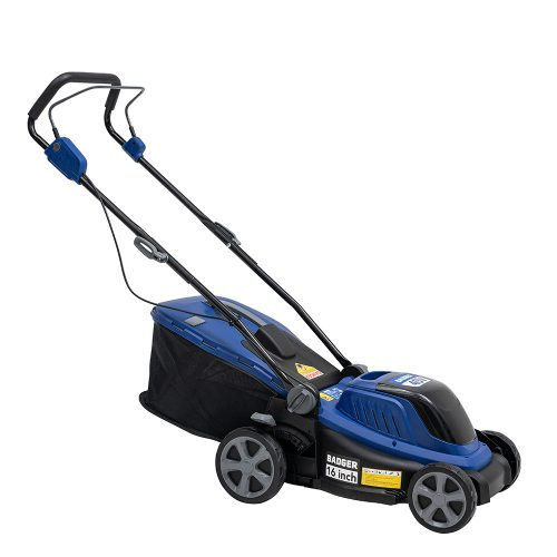 Wild Badger Power 16in Electric Mulcher / Mower with 2 20V 4.0 AH Batteries